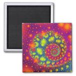Arte abstracto decorativo de neón espiral psicodél imán de frigorífico