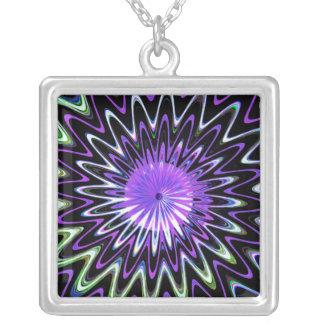 Arte abstracto decorativo del espiral psicodélico  colgante cuadrado