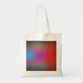 Arte abstracto del aerógrafo nebuloso negro bolsa tela barata