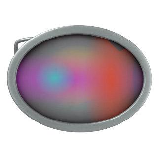 Arte abstracto del aerógrafo nebuloso negro hebilla de cinturon oval