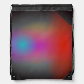 Arte abstracto del aerógrafo nebuloso negro mochilas