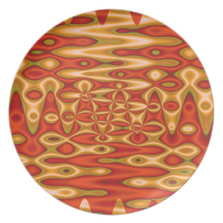 arte abstracto del amarillo anaranjado plato