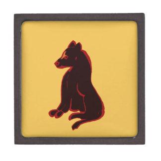 Arte abstracto del animal salvaje del oro de los caja de recuerdo de calidad