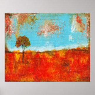Arte abstracto del árbol del paisaje del éxtasis g posters