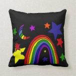 Arte abstracto del arco iris impresionante de la cojin