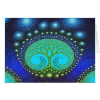 Arte abstracto del bosque del modelo celestial de tarjeta pequeña