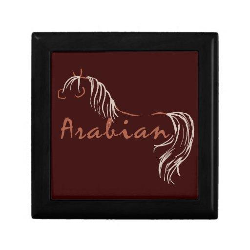 Arte abstracto del caballo del alambre cajas de recuerdo