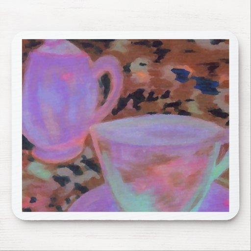 Arte abstracto del café de CricketDiane del café Alfombrillas De Ratón