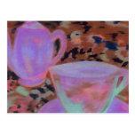 Arte abstracto del café de CricketDiane del café Tarjetas Postales
