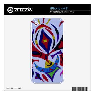 Arte abstracto del caleidoscopio enrrollado calcomanía para el iPhone 4