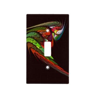 Arte abstracto del camaleón placa para interruptor