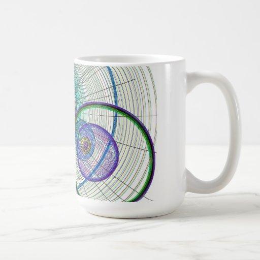 Arte abstracto del círculo taza clásica