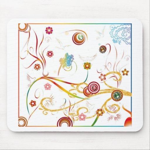 Arte abstracto del color alfombrillas de raton