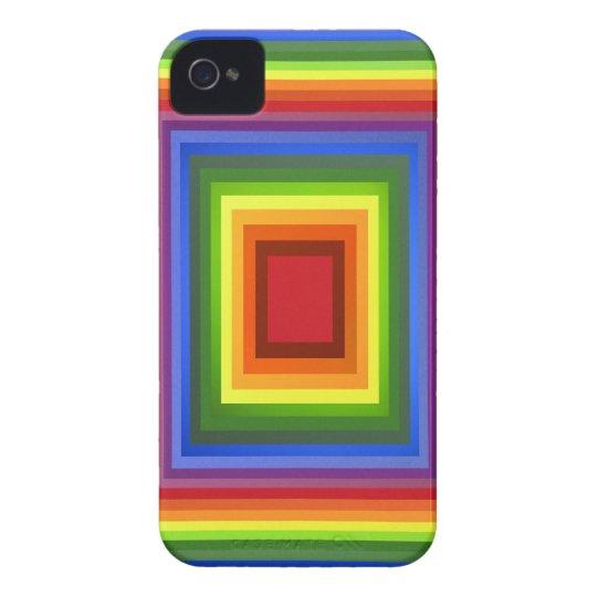 Arte abstracto del color del arco iris carcasa para iPhone 4 de Case-Mate