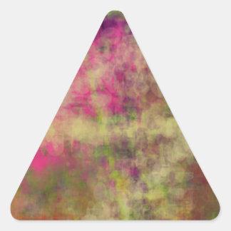 Arte abstracto del color ideal del alcance en los pegatinas trianguloes