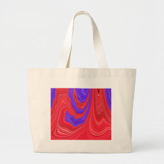 Arte abstracto del color intrépido del rojo que bolsa tela grande