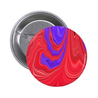 Arte abstracto del color intrépido del rojo que chapa redonda 5 cm