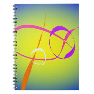 Arte abstracto del contraste y de la borrosidad libros de apuntes con espiral
