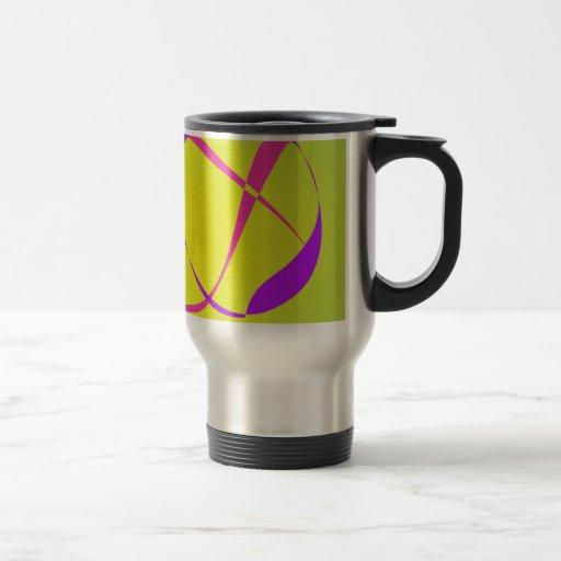 Arte abstracto del contraste y de la borrosidad tazas de café