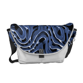 Arte abstracto del cromo azul de Swiryly Bolsa Messenger