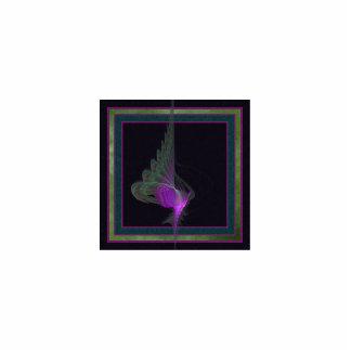 Arte abstracto del derviche púrpura adorno fotoescultura