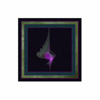 Arte abstracto del derviche púrpura chapa fotoescultura