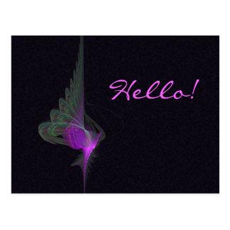 Arte abstracto del derviche púrpura tarjeta postal