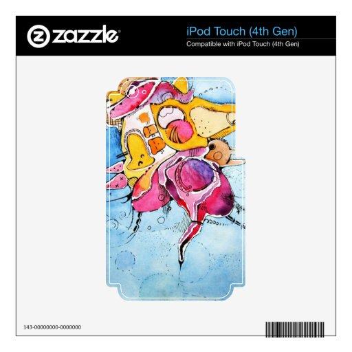 Arte abstracto del dibujo animado de la acuarela d calcomanía para iPod touch 4G
