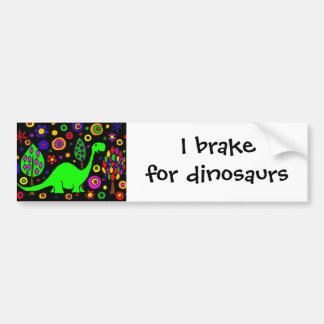 Arte abstracto del dinosaurio divertido pegatina de parachoque
