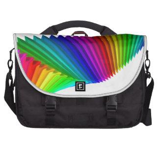 Arte abstracto del diseño del color bolsas para portatil