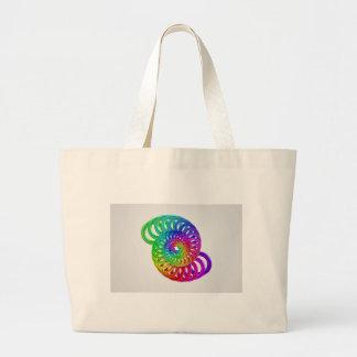 Arte abstracto del diseño del color bolsa tela grande