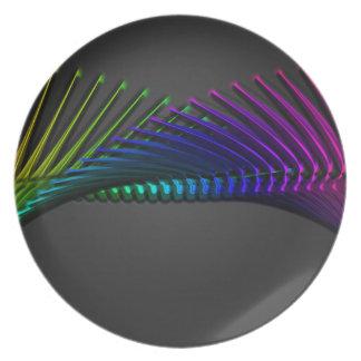 Arte abstracto del diseño del color plato de comida