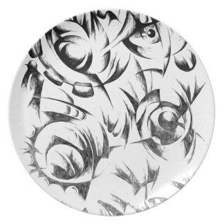 Arte abstracto del diseño del color platos