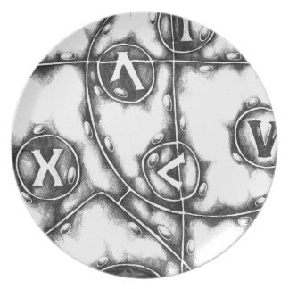 Arte abstracto del diseño platos para fiestas