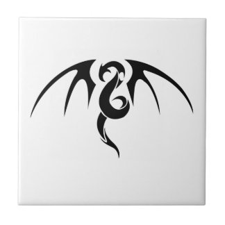 Arte abstracto del dragón teja  ceramica