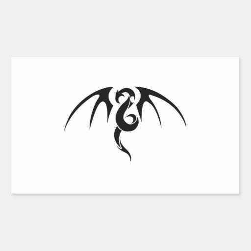Arte abstracto del dragón rectangular altavoces