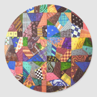 Arte abstracto del edredón de remiendo del edredón pegatina redonda