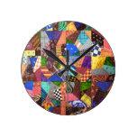 Arte abstracto del edredón de remiendo del edredón relojes