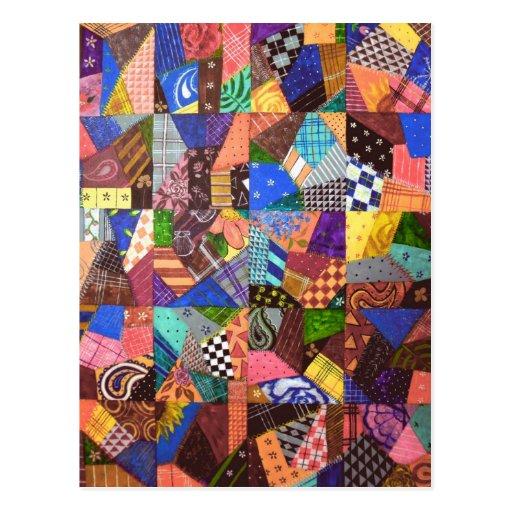 Arte abstracto del edredón de remiendo del edredón postal