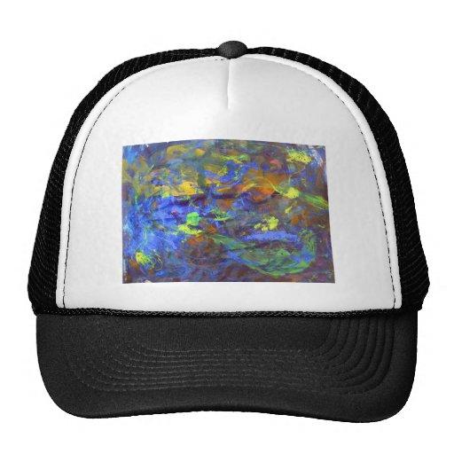 Arte abstracto del espacio profundo gorras de camionero