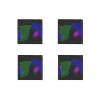 Arte abstracto del fondo negro imán de piedra