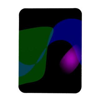 Arte abstracto del fondo negro imanes flexibles
