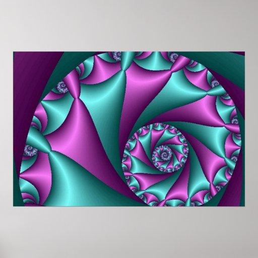 arte abstracto del fractal (115) posters