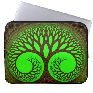 Arte abstracto del fractal del árbol 2 fundas portátiles