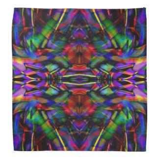 Arte abstracto del fractal del arco iris bandanas