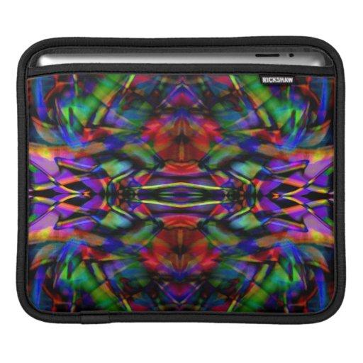 Arte abstracto del fractal del arco iris funda para iPads