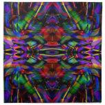 Arte abstracto del fractal del arco iris servilletas