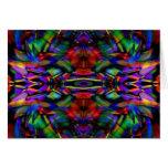Arte abstracto del fractal del arco iris felicitación