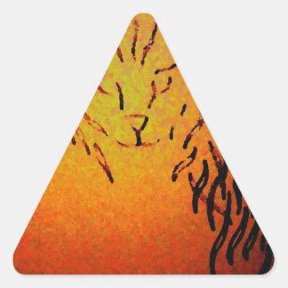 Arte abstracto del gato - CricketDiane Pegatina Triangular