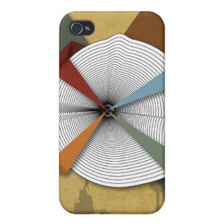 Arte abstracto del Grunge Usted mismo-Digital de c iPhone 4 Protector
